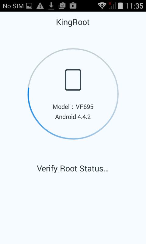 kingroot verify root status hexamob