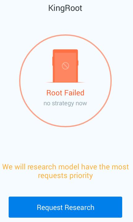 kingroot failed rooting hexamob